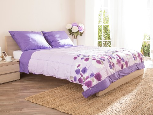 Sweet Dreams Violet 200x200cm pokrivač sa posteljinom